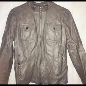Jessica Simpson vegan leather moto jacket!!